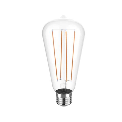 euri lighting 40w equivalent warm white 2700k st19 dimmable clear led light bulb vst19 2000