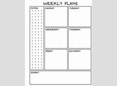 Weekly planner and monthly sheets by Student to Teacher TpT