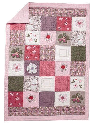 roses and patchwork on