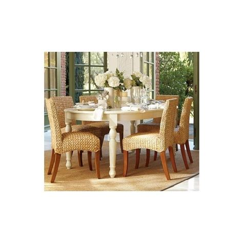 kirkwood dining table seagrass chair pottery barn