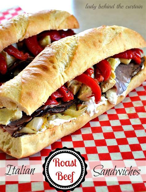 italian roast beef sandwiches