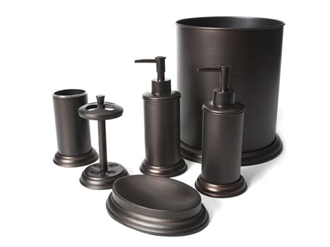 6 pc rubbed bronze bath set home woot