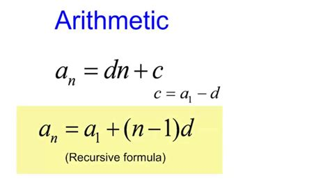 Unit 2 Combining Arithmetic And Geometric Sequences And Series Youtube