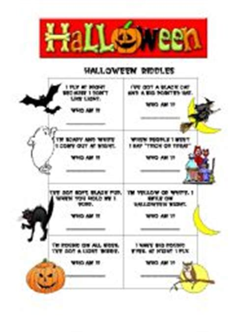 Halloween Fun Riddles by Halloween Riddles Worksheet By Grace Freire