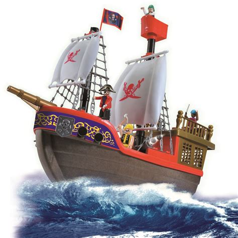 Toy Ships And Boats by Vinsani Childrens Playset Kids Pirate Ship Boat Treasure