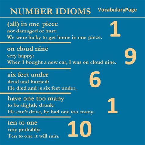 Number Idioms  Vocabulary Home