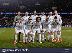 Real Madrid Team Group Line Up Stock Photos & Real Madrid