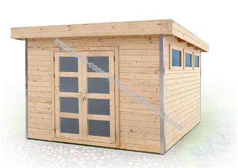 abri de jardin 224 toit plat avec profil d angle en aluminium