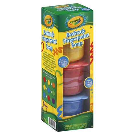 crayola bathtub fingerpaint soap 3 jars 12 fl oz 354 8
