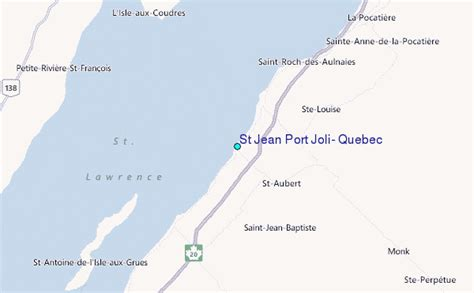 st jean port joli tide station location guide
