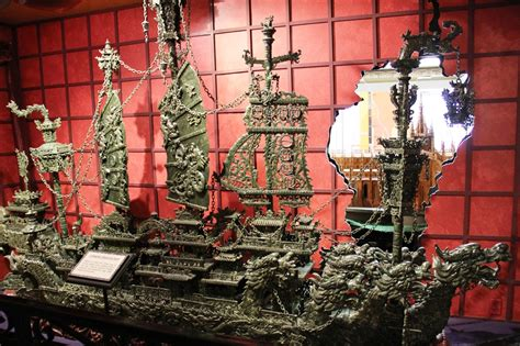 Jade Dragon Boat Carving by Ripley S Believe It Or Not Museum Branson Weird But