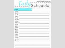 One Week Daily Calendar Printable Calendar Template