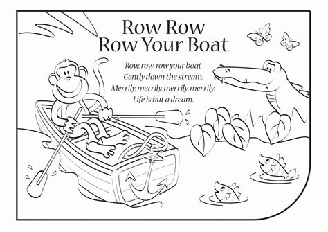 Row Your Boat Lyrics Az by Row Row Row Your Boat Coloring Page Coloring Home