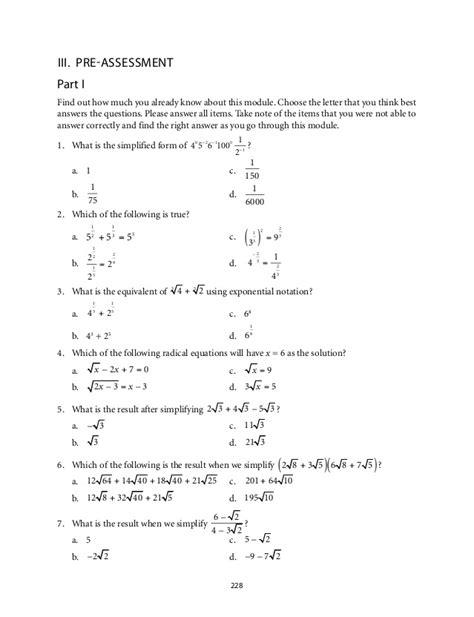 Rational Exponents Worksheet Pdf  Rational Exponents And Radicals Worksheet