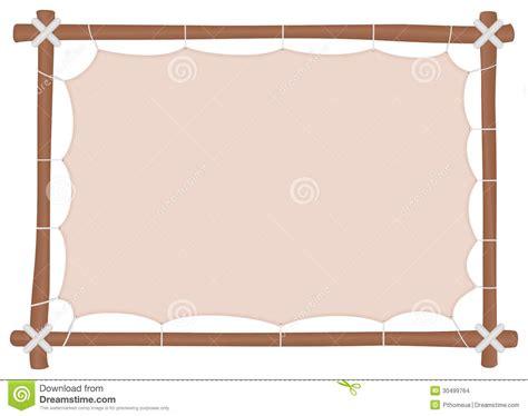 cadre en bois avec une toile 233 tir 233 e et un endroit pour mettre le texte images stock image