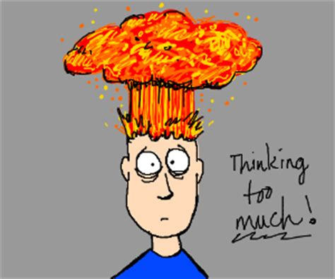 When Your Head Explodes From Too Much Stress Drawception