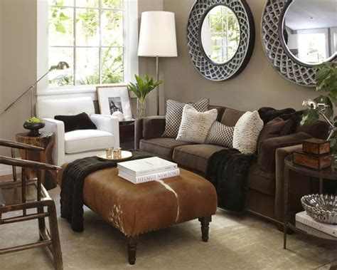 brown leather living room ideas get furnitures for
