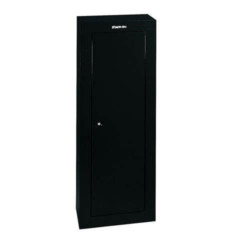 stack on 8 gun steel security cabinet gloss black gcb 908