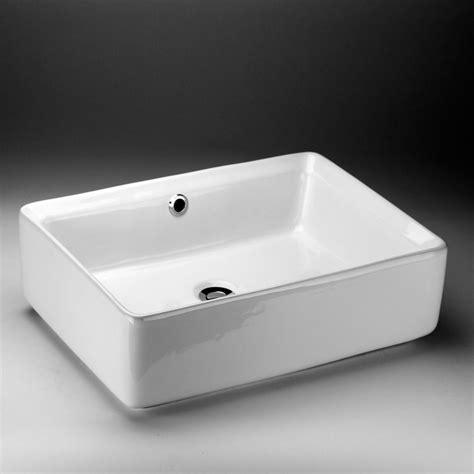 Home Depot Bathroom Sinks Canada by Acri Tec Rectangular Countertop Vessel Sink The Home