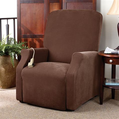 sure fit stretch pique medium recliner slipcover reviews wayfair