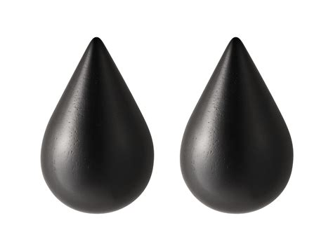 pat 232 re dropit small lot de 2 h 7 7 cm noir small h 7 7 cm normann copenhagen