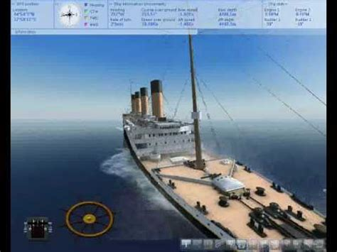 the anchor trick in ship simulator 2008 titanic sinking