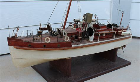 Toy Ships And Boats by Antique Vintage Wood Brass Toy Boucher Live Steam Engine
