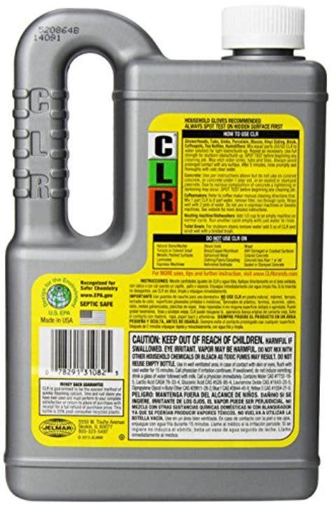 clr calcium lime rust remover enhanced formula 28 fl oz