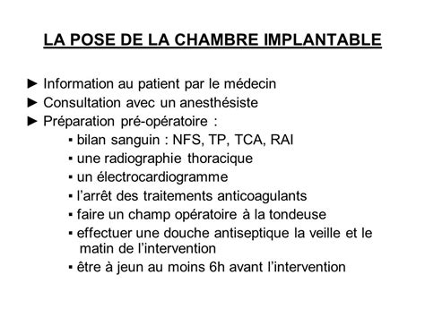 La Chambre Implantable Mercredi 23 Avril Ppt Video Online