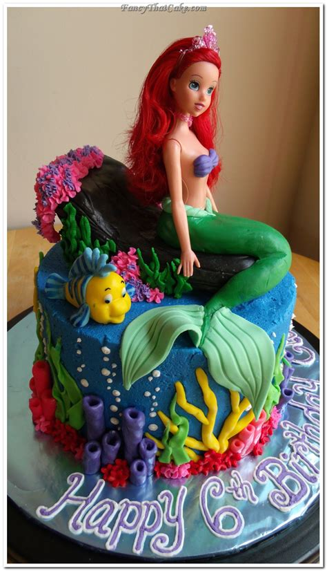 ariel birthday cake mermaid cake cakes