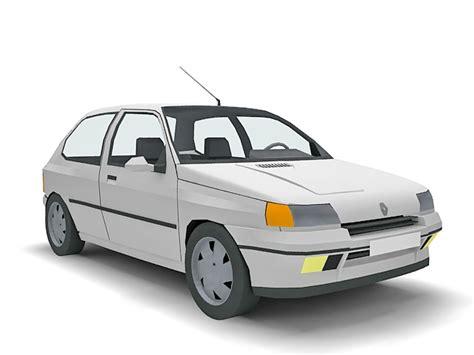 Renault Clio 3-door Hatchback 3d Model 3d Studio,3ds Max
