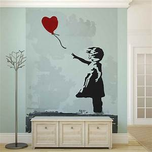 Banksy Street Art Balloon Heart Graffiti Wall Paper Mural ...