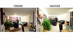 Beleuchtung Im Wohnzimmer : indirekte beleuchtung mit led vorher nachher ~ Markanthonyermac.com Haus und Dekorationen