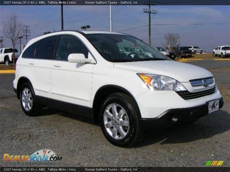 2007 Honda Cr-v Ex-l 4wd Taffeta White / Ivory Photo #2