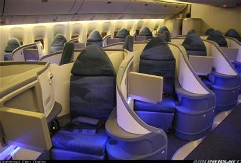 air canada alliance boeing 777 interieur business class seattle tacoma sea avion