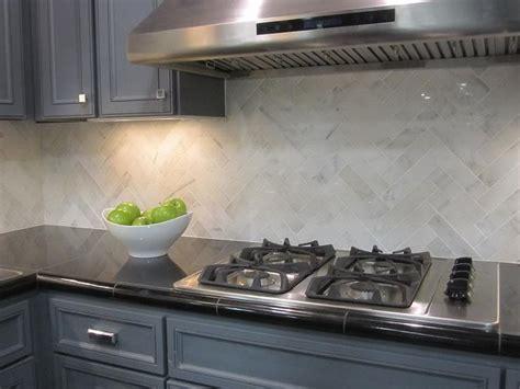 hton carrara 2x8 herringbone kitchen