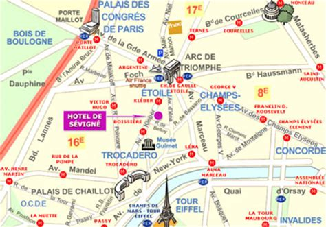 hotel de sevigne near the chs elysees and to the arch of triumph how to