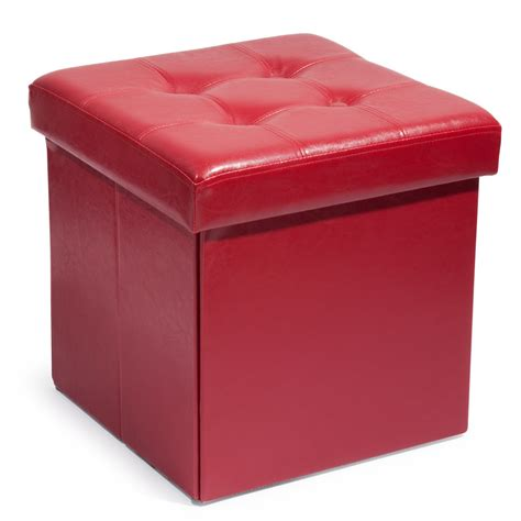 pouf coffre pliable capitonn 233 en polyur 233 thane maisons du monde
