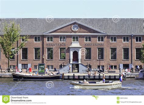 Museum Amsterdam Hermitage by Hermitage Museum With Boats In A Canal Amsterdam