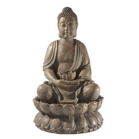 fontaine bouddha en r 233 sine h 85 cm lotus