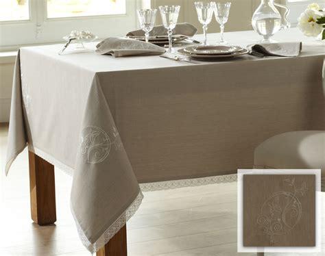 linge de table brod 233 papillons coton chambray becquet