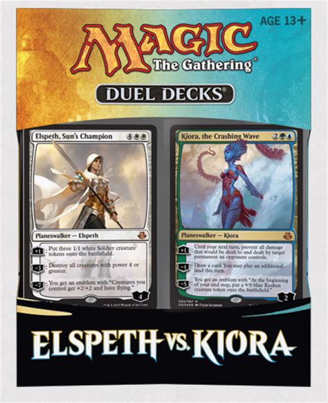 elspeth kiora meet in the new duel deck release for magic