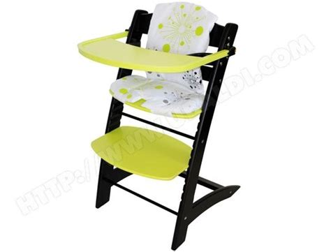 chaise haute 233 volutive badabulle b010009 noir et anis pas cher ubaldi