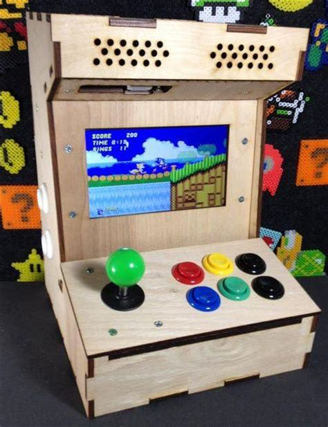 build your own mini arcade cabinet with raspberry