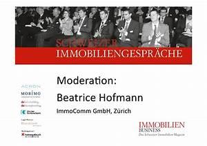 Immo Schweizer Gmbh : 26 schweizer immobiliengespraech ~ Markanthonyermac.com Haus und Dekorationen