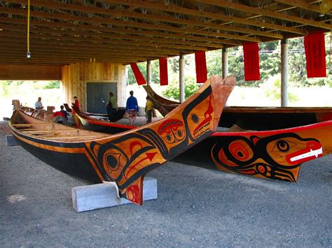 Types Of Native American Boats by W 01 Haida Canoes S V Code Blue