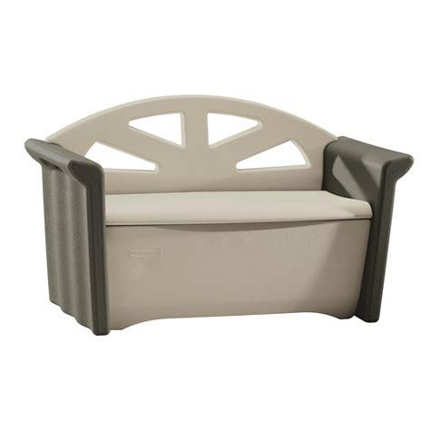 rubbermaid storage bench deck box