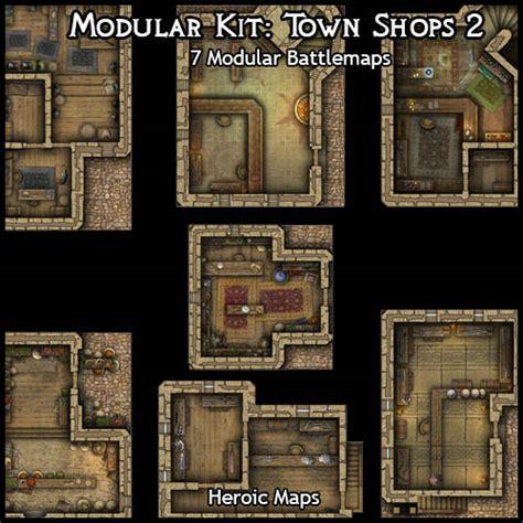 heroic maps modular kit town shops 2 heroic maps