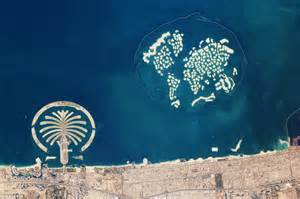 world islands is it the end of the world nasa picture suggests dubai globe is sinking back