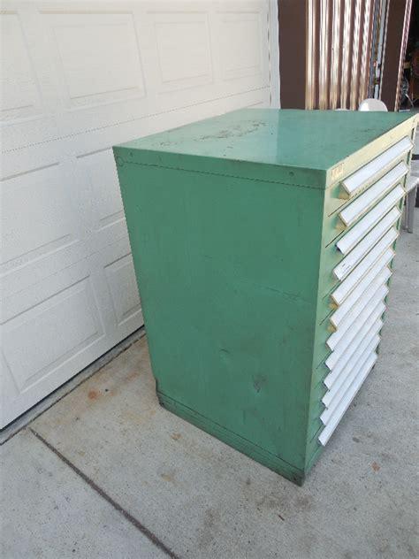 stanley vidmar industrial 12 drawer tooling storage